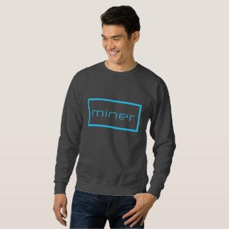 miner. Sweatshirt COOL Miner Simple Grey