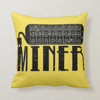 Miner Throw Pillow