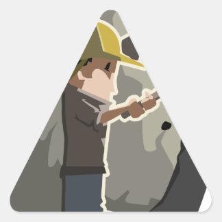 Miner Triangle Sticker