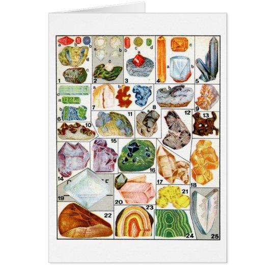Minerals Card