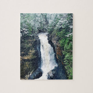 Miners Falls Upper Peninsula Michigan Jigsaw Puzzle