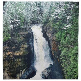Miners Falls Upper Peninsula Michigan Napkin