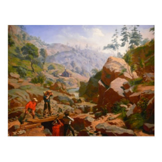 Miners in the Sierras - 1851/1852 Postcard