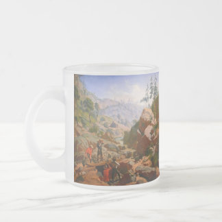 Miners in the Sierras by Charles Christian Nahl Frosted Glass Mug