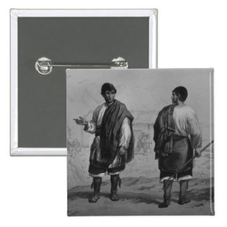 Miners of Chile, engraved by F. Lehnert 2 Inch Square Button
