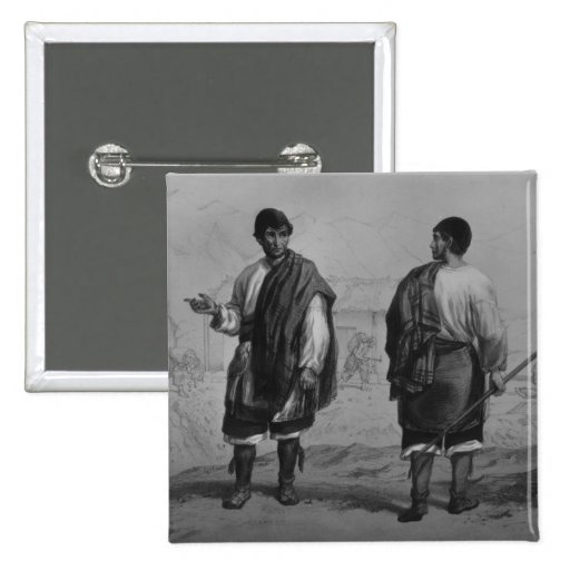Miners of Chile, engraved by F. Lehnert Pinback Button