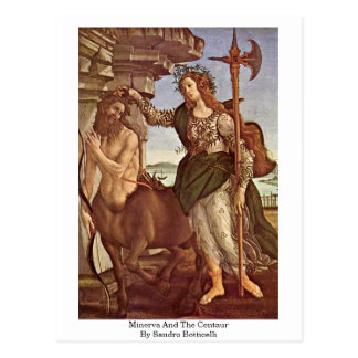 Minerva And The Centaur By Sandro Botticelli Postcard