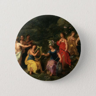 Minerva and the muses 2 inch round button