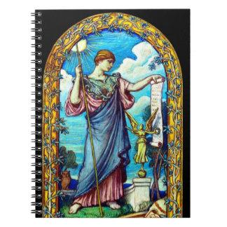 Minerva Mosaic Design 1896 Spiral Notebook