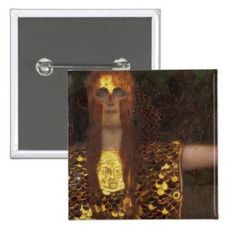 Minerva or Pallas Athena 2 Inch Square Button