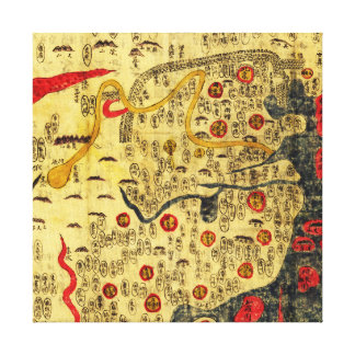 Ming Empire, ChinaPanoramic MapChina Canvas Print