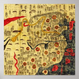 Ming Empire, ChinaPanoramic MapChina Poster