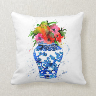 Ming Vase Throw Pillow