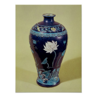 Ming vase with three colour decoration poster