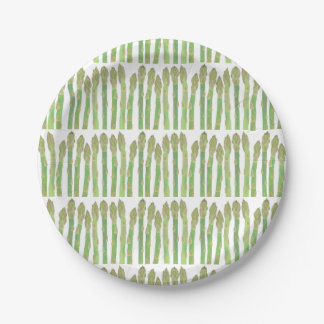 Mini Asparagus salad 7 Inch Paper Plate