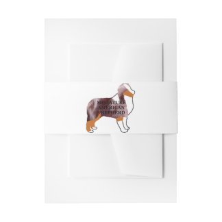 mini aussie red merle name silo invitation belly band