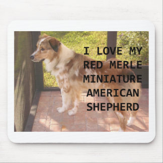 mini Australian_shepherd red merle love w pic Mouse Pad