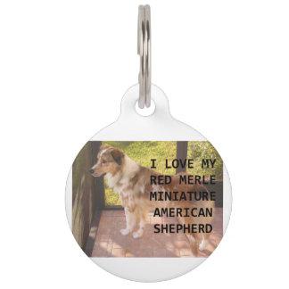 mini Australian_shepherd red merle love w pic Pet ID Tags