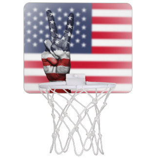 Mini-basket of tennis shoe, image: Flag Of America Mini Basketball Hoop