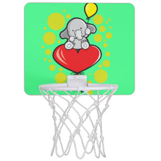 Mini Basketball Hoop with elephant and balloons