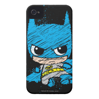 Mini Batman Sketch iPhone 4 Cases