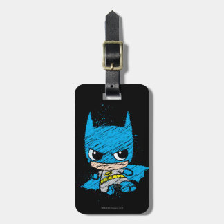 Mini Batman Sketch Luggage Tag