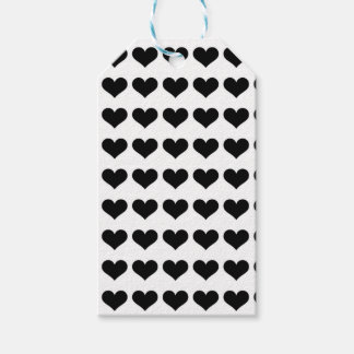 Mini Black Hearts | Tags Pack Of Gift Tags
