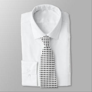 Mini Black Squares White Tie