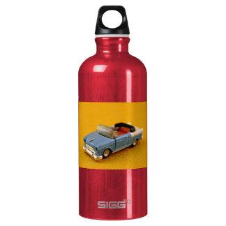 Mini Blue Toy Car Photograph - Water bottle!