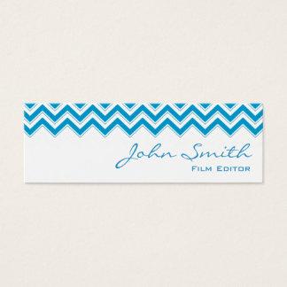 Mini Blue Zigzag Film Editor Business Card