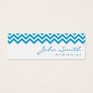 Mini Blue Zigzag Hygienist Business Card