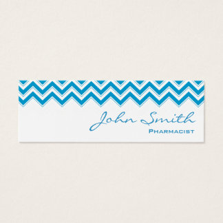 Mini Blue Zigzag Pharmacist Business Card