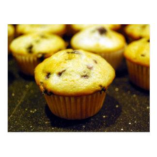 mini blueberry muffins postcard