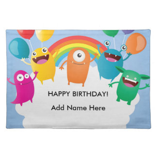 Mini Brothers Personalized Birthday Party Decor Placemat