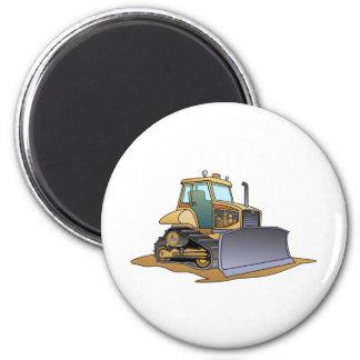 Mini Bulldozer 2 Inch Round Magnet