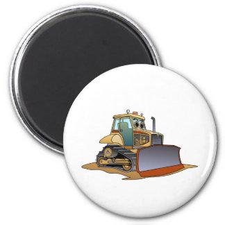 Mini Bulldozer Cartoon 2 Inch Round Magnet