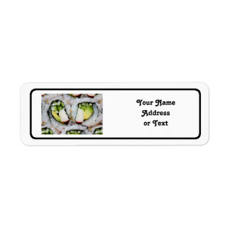 Mini California Roll - Sushi Return Address Label