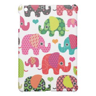 Mini cas d'éléphant d'enfants d'ipad coloré de mot coque iPad mini