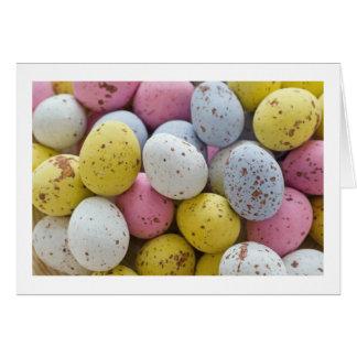 mini chocolate eggs card