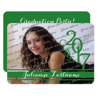 Mini Class of 2017 Photo Varsity Green Card