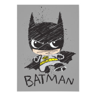 "Mini Classic Batman Sketch 5"" X 7"" Invitation Card"