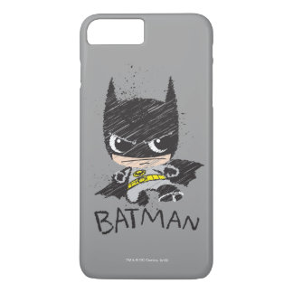 Mini Classic Batman Sketch iPhone 7 Plus Case
