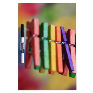 Mini Clothespins Dry Erase Boards