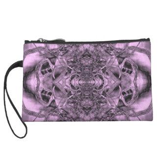 Mini Clutch, purple Celtic Sun Cross Wristlets