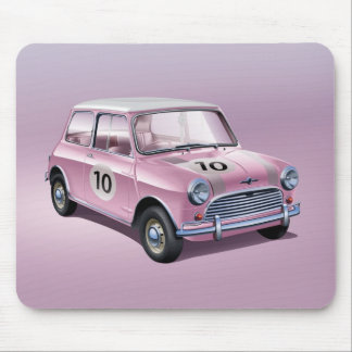 Mini Cooper S1 pink Mouse Pad