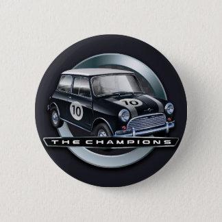 Mini Cooper S black 2 Inch Round Button