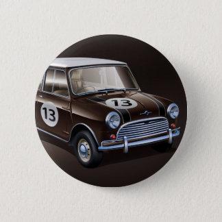 Mini Cooper S brown 2 Inch Round Button