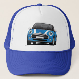 Mini Cooper S (F56) blue with white stripes Trucker Hat