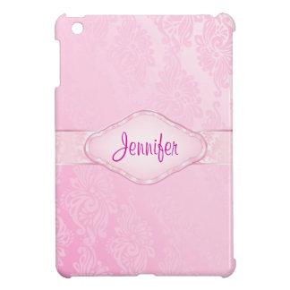 Mini coque ipad personnalisé de damassé rose étui iPad mini