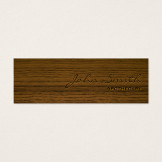 Mini Dark Wood Apothecary Business Card